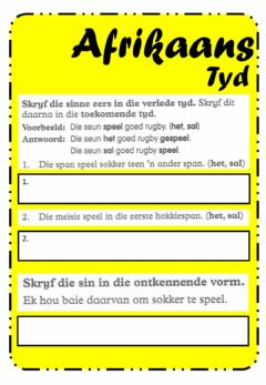 Interactive worksheet Afrikaans - 35 C