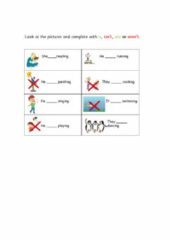 Interactive worksheet Present continuous affirmative and negative