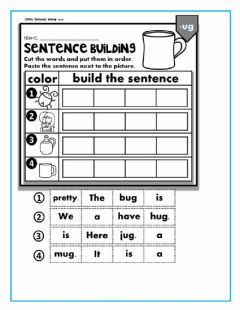 Interactive worksheet Sentence building