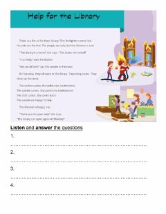 Interactive worksheet Homework n°79 -Help for the Library