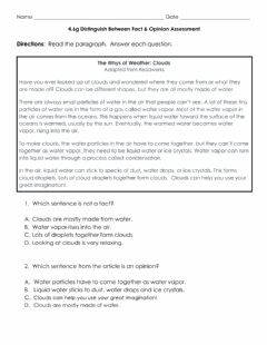 Ficha interactiva Fact and Opinion Graded Assignment