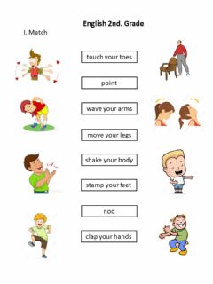 Interactive worksheet Move your body