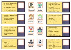 Interactive worksheet Halloween characters - Who is who?