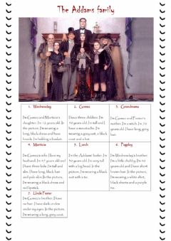 Interactive worksheet The Addams Family