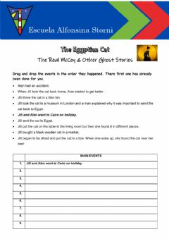 Interactive worksheet The Egyptian Cat