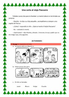 Interactive worksheet Una carta al viejo Pascuero