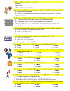 Interactive worksheet Educación Vial 1 a 12