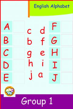 Ficha interactiva English Alphabet - Group 1 - A - J