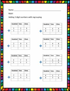 Ficha interactiva 3 - digit addition with regrouping