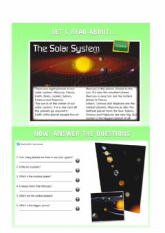 Interactive worksheet Reading- The solar system