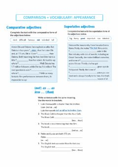 Interactive worksheet Comparison - appearance