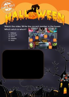 Interactive worksheet Halloween