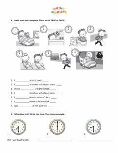Interactive worksheet Routines 3