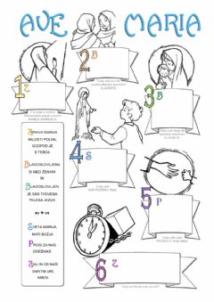 Interactive worksheet Zdrava marija