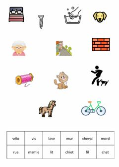 Interactive worksheet Apili mots 1