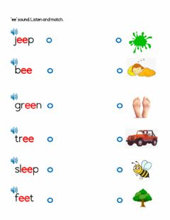 Interactive worksheet Ee sound