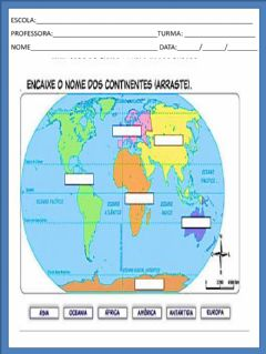 Interactive worksheet Os continentes
