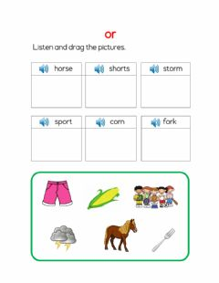 Interactive worksheet Or sound