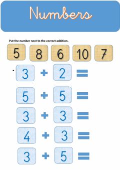 Interactive worksheet Numbers Addition