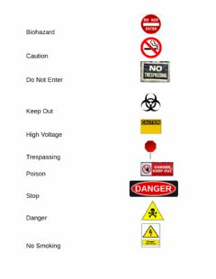 Ficha interactiva safety words 4 pages