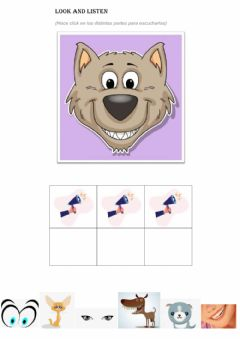 Interactive worksheet The Wolf