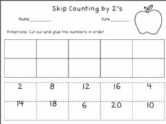 Interactive worksheet Skip Count by 2