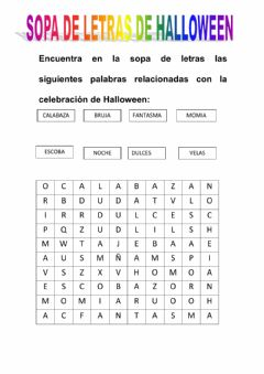 Interactive worksheet Sopa de letras halloween