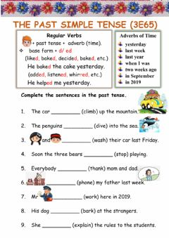 Interactive worksheet The Past Simple Tense