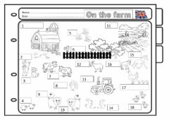 Interactive worksheet On the farm