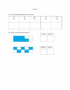 Interactive worksheet Decimal Tenths