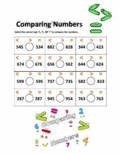 Interactive worksheet Comparing 3-digit numbers