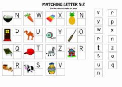Interactive worksheet Drag and drop N-Z