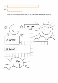 Interactive worksheet Saudações