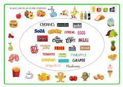 Interactive worksheet Pad23b  Food and Drinks Match
