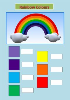 Interactive worksheet Rainbow colours