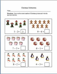 Ficha interactiva Subtraction by crossing out