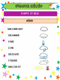Interactive worksheet France météo