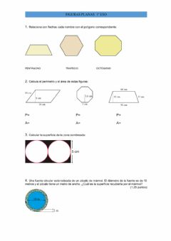 Interactive worksheet GEOMETRIA PLANA, AREAS Y PERIMETROS