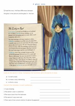 Interactive worksheet A ghost story