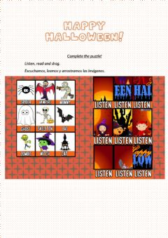 Interactive worksheet Happy Halloween Puzzle