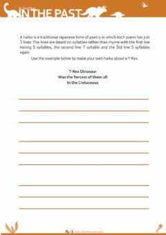 Interactive worksheet In The Past - Haiku