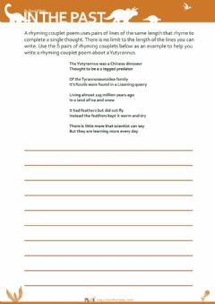 Interactive worksheet In The Past - Rhyming