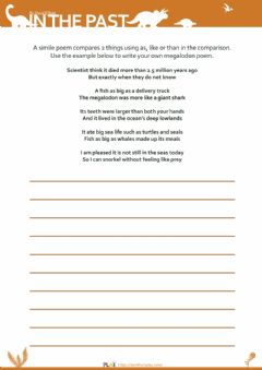 Interactive worksheet In The Past - Simile
