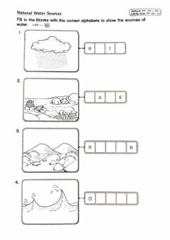 Interactive worksheet Natural Sources of Water