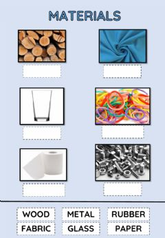 Interactive worksheet Materials 1