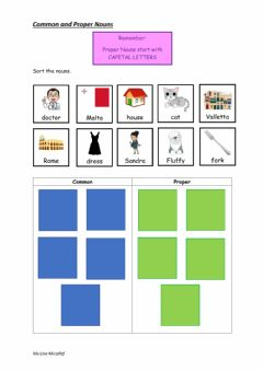 Interactive worksheet Common and Proper Nouns