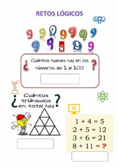 Interactive worksheet Retos lógicos