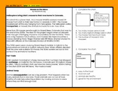 Interactive worksheet Cause and Effect Task Cards Set 1