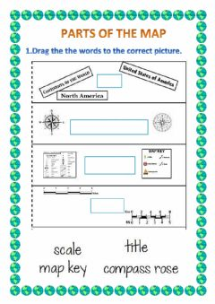 Interactive worksheet Parts ofthe map