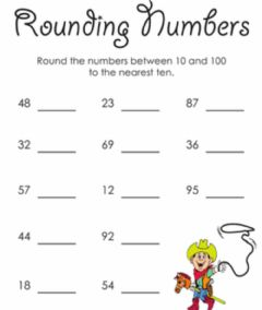 Interactive worksheet Rounding Numbers